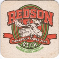 Sous Bocks Coaster REDSON CANADIAN LAGER TYPE Beer Rien Au Dos - Beer Mats