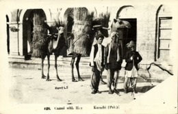 Pakistan, KARACHI, Camel With Hay (1957) RPPC Postcard - Pakistán