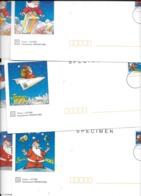 """Lot De 3 PAP SPECIMEN """"validité: Monde Entier"""" (enveloppe Avec Carte Du Même Style) - Specimen"""