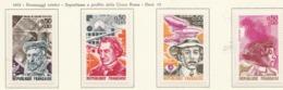 PIA - FRANCIA  - 1973 : Personaggi Celebri - Sovrattassa A Favore Della Croce Rossa - (YV  1744-48) - Primo Soccorso
