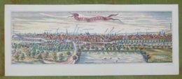Reproduction Gravure - Vue Générale De Villes - HILDESHEIM D'après Braun-Hogenberg, 1572 - Estampes & Gravures