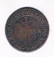 1/4  STUBER 1750  GULICH AND BERG  DUITSLAND/8095 / - [ 1] …-1871 : German States