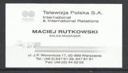 Poltel , Polish Television. - Cartes De Visite