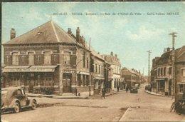 80 Somme ROISEL Rue De L Hotel De Ville CAFE TABAC DEPREZ Animée - Roisel
