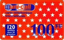 Carte Prépayée - UNI CALL  -  100 FF - Andere Voorafbetaalde Kaarten