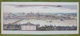 Reproduction Gravure - Vue Générale De Villes - MAINZ D'après M. Merian, 1642 - Estampes & Gravures