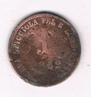 1 SOLDO 1862 LOMBARDIA & VENETO ITALIE /8100/ - Regional Coins