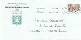 62 - Mairie De RUYAULCOURT  (avec Timbre) - Entiers Postaux