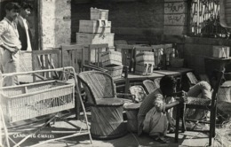 Pakistan, Native Man Canning Chairs (1960) RPPC Postcard - Pakistan