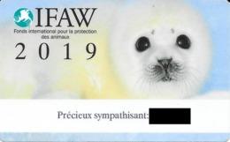 Carte De Membre Sympathisant IFAW 2019. (Voir Commentaires) - Andere Sammlungen