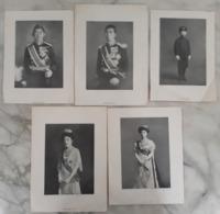 5 Pages De Document: Photos De L'Empereur Et L'Impératrice Du JAPON. - Documents Historiques