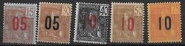 ⭐ Indochine - YT N° 60 à 64 ** - Neuf Sans Charnière - 1912 ⭐ - Unused Stamps