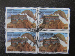 Italy, 1993, Observatory, Astronomy, Building, Landscape, Block Of 4 - 6. 1946-.. Republic
