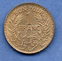 Tunisie-- 1 Franc 1941  -  état  SUP+ - Tunisia