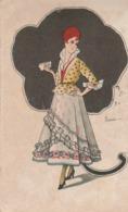Cartolina - Postcard /  Viaggiata - Sent /  Donnina. - Women