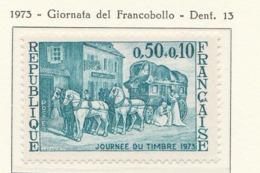 PIA - FRANCIA - 1973 : Giornata Del Francobollo - Diligenza Per Il Trasporto Della Posta  - (Yv 1749) - Giornata Del Francobollo