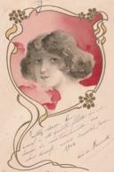 Cartolina - Postcard /  Viaggiata - Sent /  Donnina. A Rilievo - Femmes