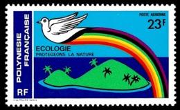 POLYNESIE 1978 - Yv. PA 141 **   Cote= 3,10 EUR - Ecologie. Protégeons La Nature  ..Réf.POL24425 - Poste Aérienne