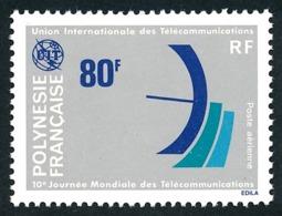 POLYNESIE 1978 - Yv. PA 136 **   Cote= 7,10 EUR - Journée Mondiale Des Télécommunications  ..Réf.POL24421 - Poste Aérienne