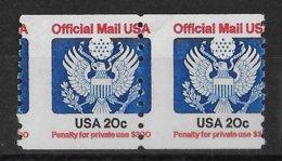 USA - 1988 - VARIETE PIQUAGE à CHEVAL ! SERVICE YVERT N° 110 ** MNH - Varietà, Errori & Curiosità