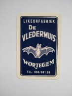 1 Oude Speelkaart Likeurfabriek Likeur Brouwerij De Vledermuis Wortegem - Speelkaarten