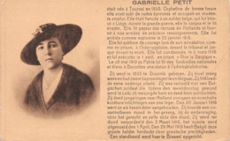 Tournai 2 Cartes Postales Sur Gabrielle Petit : Sa Vie, Le Monument. - Doornik