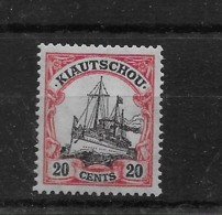 Sello De Kiautschou Nº Michel 22 * Valor Catálogo 40.00€ - Colonie: Kiautchou