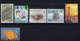 Lot 6 Used Different - Solomon Islands (1978-...)