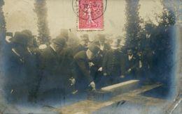 N°77671 -carte Photo Président Fallières (?) Posant La Première Pierre D'un édifice Dans La Manche (mais Où ?) - Autres Communes