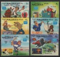 ART 83 - MALDIVES 6 Val. Neufs** Dessins Animés - Comics