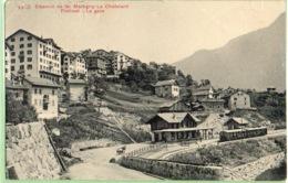 Chemin De Fer Martigny -Le Châtelard  (plis Et Coupure.haut) - VS Wallis