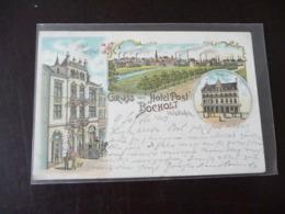 Gruss Aus Hotel Post Bocholt Litho 1903 - Bocholt