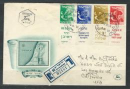 MZ-/-015-  BELLE LETTRE RECOMMANDE Via Les U.S.A., De 1955, VOIR LES SCANS  , Liquidation - Israel