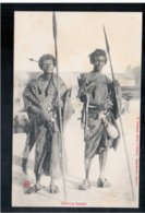 DJIBOUTI Guerriers Somalis Ca 1905 Old Postcard - Djibouti