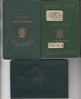 Belgique 3x Passport, Reisepass, Passeport, Passaporte, Paspoort, Reispas 1950-1961-1968 - Historical Documents
