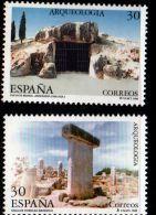 Spain 1995 Menga-cave At Antiquera And Torralba Taula At Menorca 2 Values MNH - Archeologia