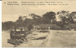 """Congo Belge Ibembo Le Vapeur """"Ville De Bruges"""" à Le Rive   (2310) - Congo Belge - Autres"""