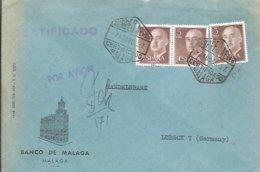 CARTA CORREO AEREO 1966 CERTIFICADO AVION MALAGA - 1931-Hoy: 2ª República - ... Juan Carlos I