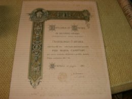 DIPLOMA D'ONORE DI SECONDO GRADO 1897 - Diplome Und Schulzeugnisse