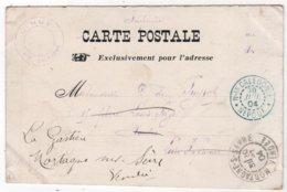Nouvelle Calédonie NOUMEA La Mairie Cachet Bleu NEPOUI 1904 - Briefe U. Dokumente