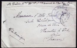 CHINA CHINE 1919 TIENTSIN TO FRANCE VIA SHANGHAI CORPS EXPEDITIONNAIRE DE CHINE CHINESE EXPEDITIONARY FORCE COVER RARE!! - China