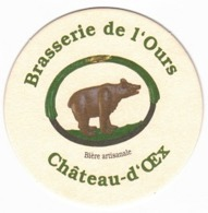 Brasserie De L'ours Chateau D'oex  - Suisse - Beer Mats