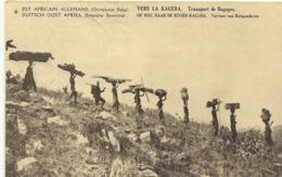 Duits Oost Afrika Op Weg Naar De Rivier Kagera Vervoer Van Reisgoederen   (2318) - Congo Belge - Autres