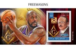 Maldives. 2019 Freemasons.  (0714b)  OFFICIAL ISSUE - Freimaurerei