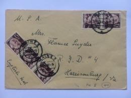 GERMANY Occupation Registered Mainz Cover 1947 Sent To Harrisonburg Va USA - Zone Française