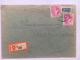 GERMANY Occupation Registered Munster Cover 1948 Sent To Oldenburg - American/British Zone