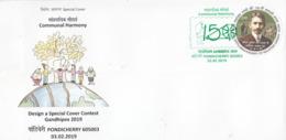India  2019  GANDHIPEX  Mahatma Gandhi  Pondicherry  Special Cover  # 23495  D Inde  Indien - Mahatma Gandhi