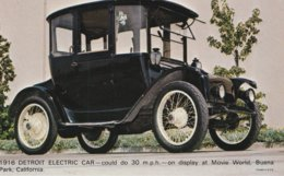 1916 Detroit Electric Car Could Do 30 M. P. H. On Display At  Movie World, Buena Park, California Valvoline Oil Company - Advertising