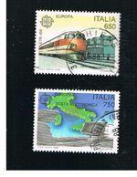 ITALIA REPUBBLICA  - SASS. 1828.1829   -      1988     EUROPA       -      USATO - 6. 1946-.. Repubblica