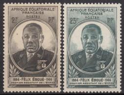 N° 206 Et N° 207 - X X - ( C 1715 ) - A.E.F. (1936-1958)